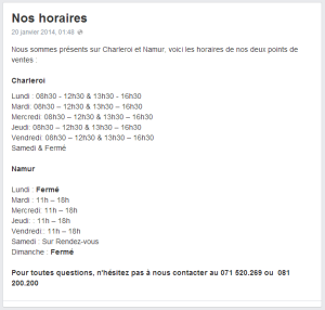 Horaire