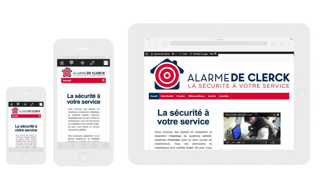 Nouveau site internet Alarme De Clerck