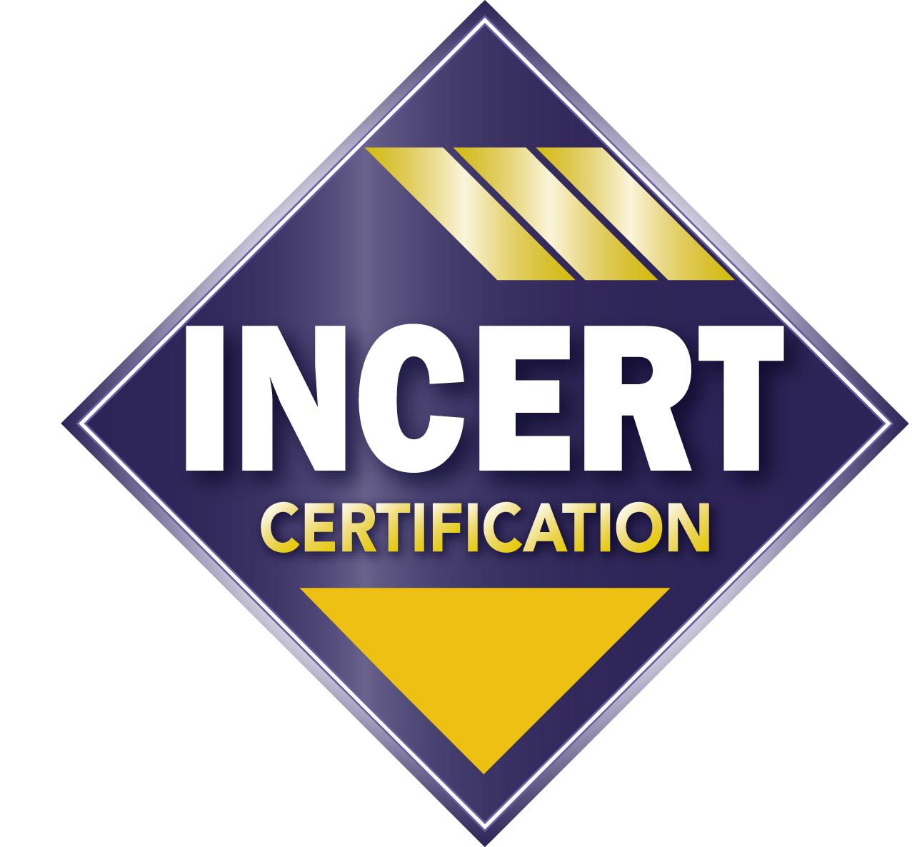 Le logo de certification INCERT