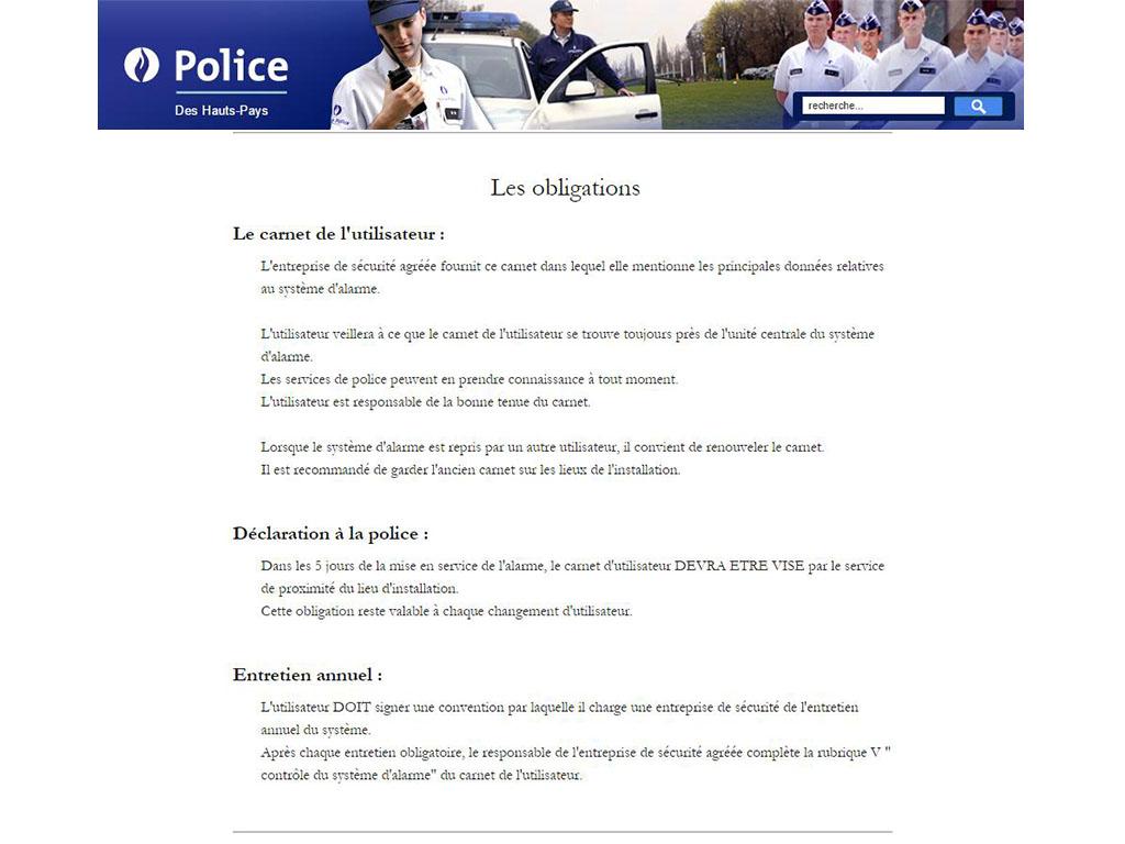 Alarme Police Obligation Entretien Annuel